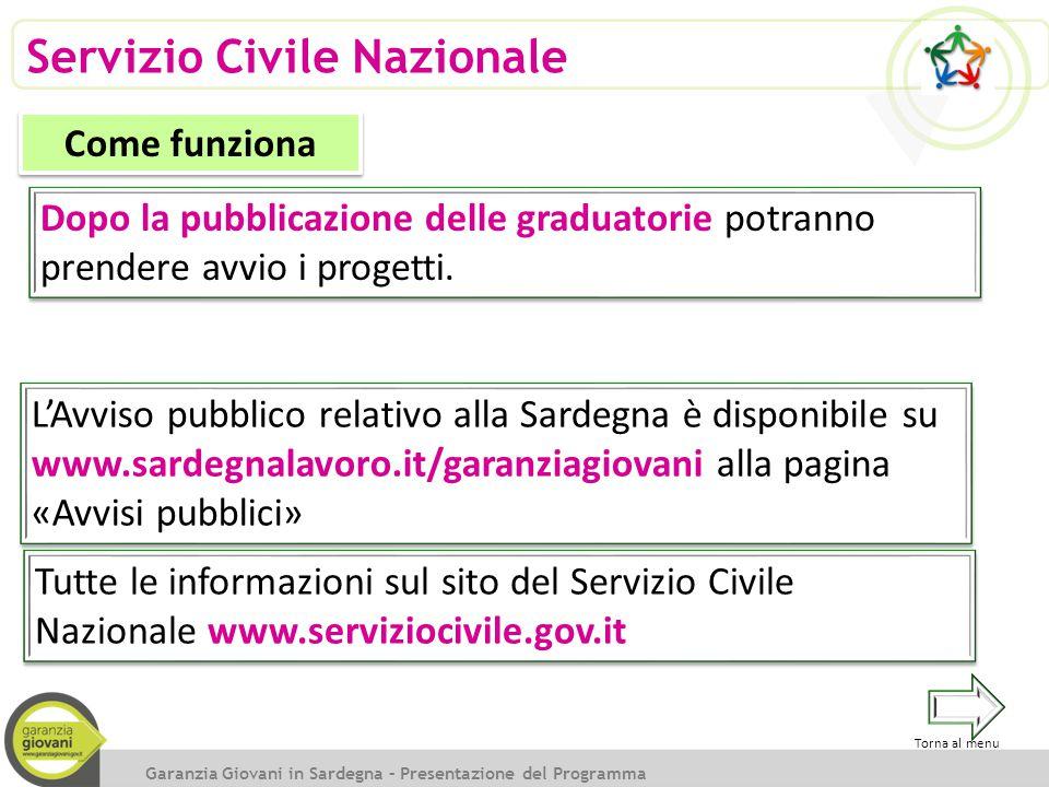 Servizio Civile Nazionale Dopo la pubblicazione delle graduatorie potranno prendere avvio i progetti. Garanzia Giovani in Sardegna – Presentazione del
