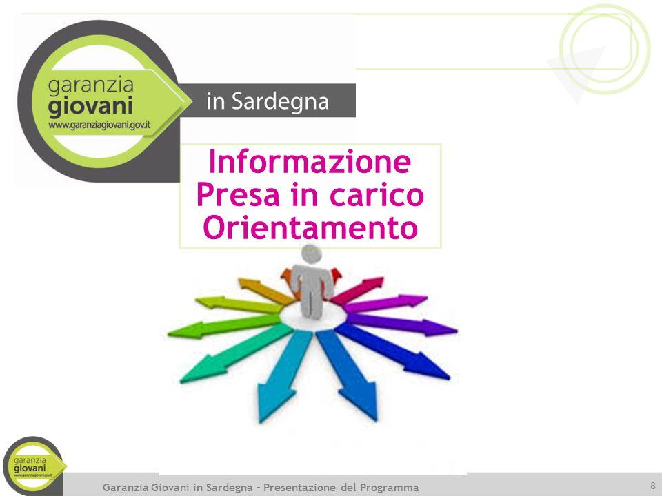 8 Informazione Presa in carico Orientamento Garanzia Giovani in Sardegna – Presentazione del Programma