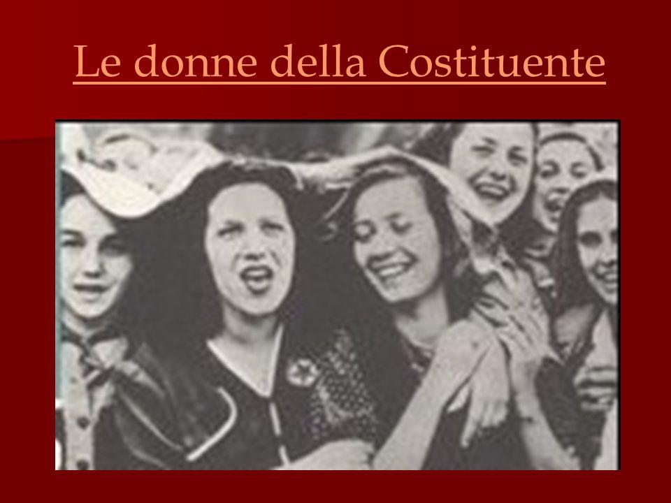 Introduzione Il decreto n.74 del marzo 1946 riconobbe alle donne sia il diritto di voto sia quello all'eleggibilità.