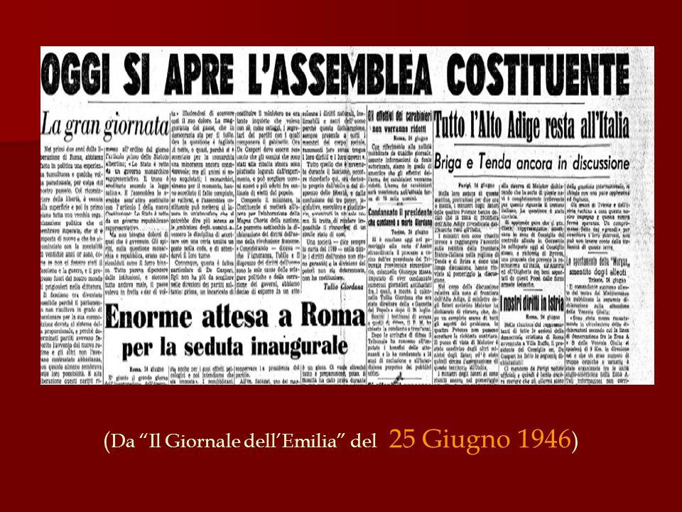 """( Da """"Il Giornale dell'Emilia"""" del 25 Giugno 1946 )"""