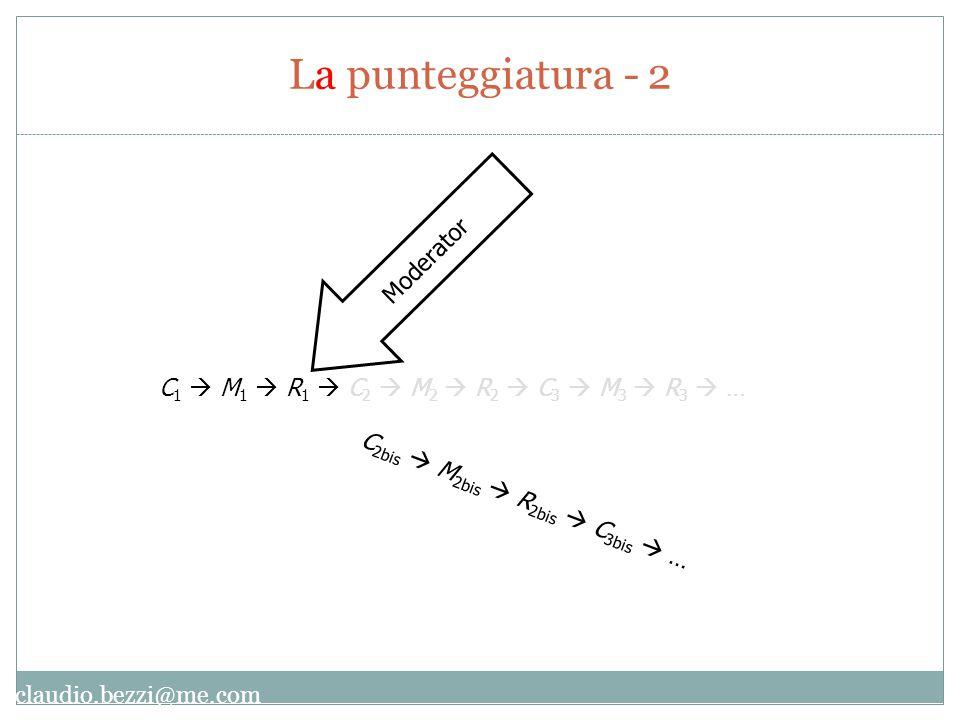 claudio.bezzi@me.com C 1  M 1  R 1  C 2  M 2  R 2  C 3  M 3  R 3  … Moderator C 2bis  M 2bis  R 2bis  C 3bis  … La punteggiatura - 2