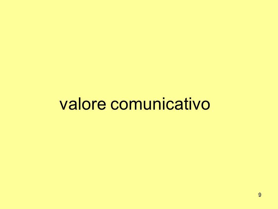 9 valore comunicativo