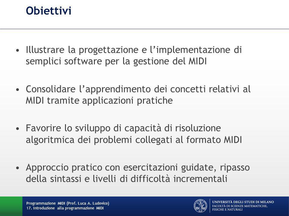 JAVA Primi esempi di programmi Programmazione MIDI (Prof.