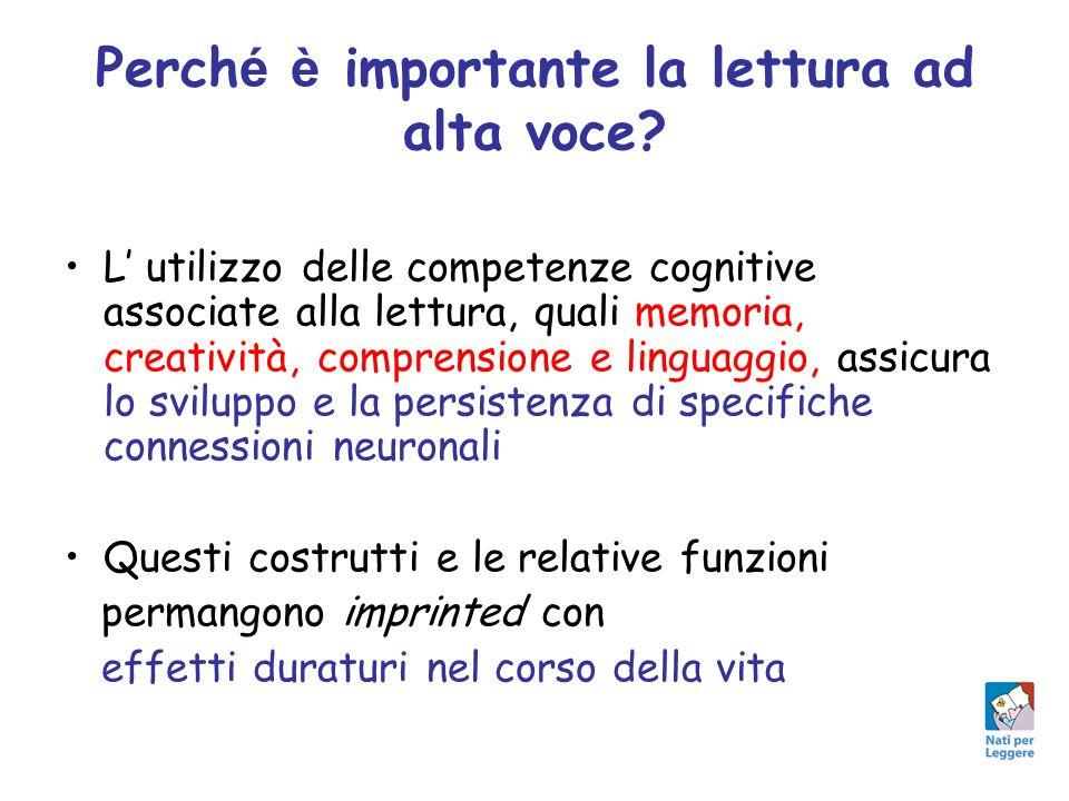 Perch é è importante la lettura ad alta voce? L' utilizzo delle competenze cognitive associate alla lettura, quali memoria, creatività, comprensione e