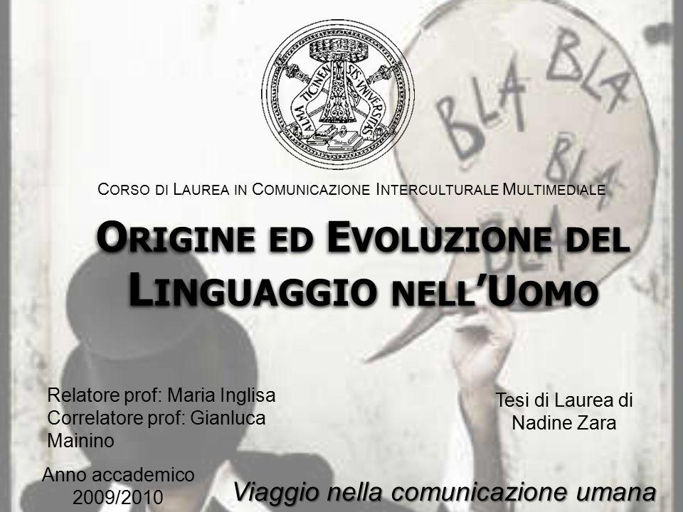 Introduzione Filogenesi Ontogenesi Premesse Nella specie umana Dal neonato all'adulto La comunicazione degli animali Pidgin e lingue creole