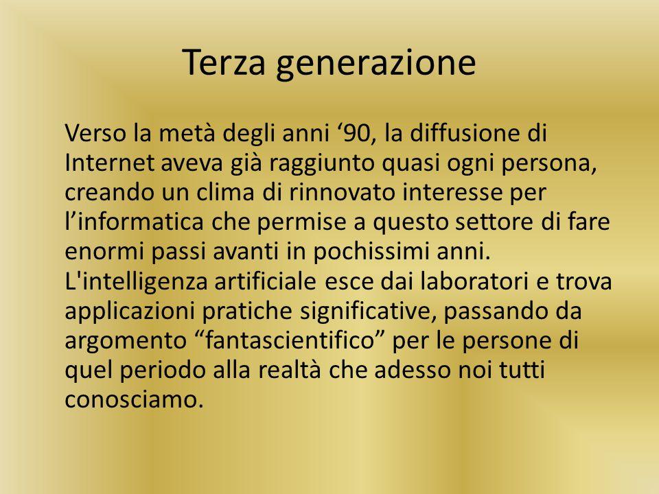 Terza generazione Verso la metà degli anni '90, la diffusione di Internet aveva già raggiunto quasi ogni persona, creando un clima di rinnovato intere