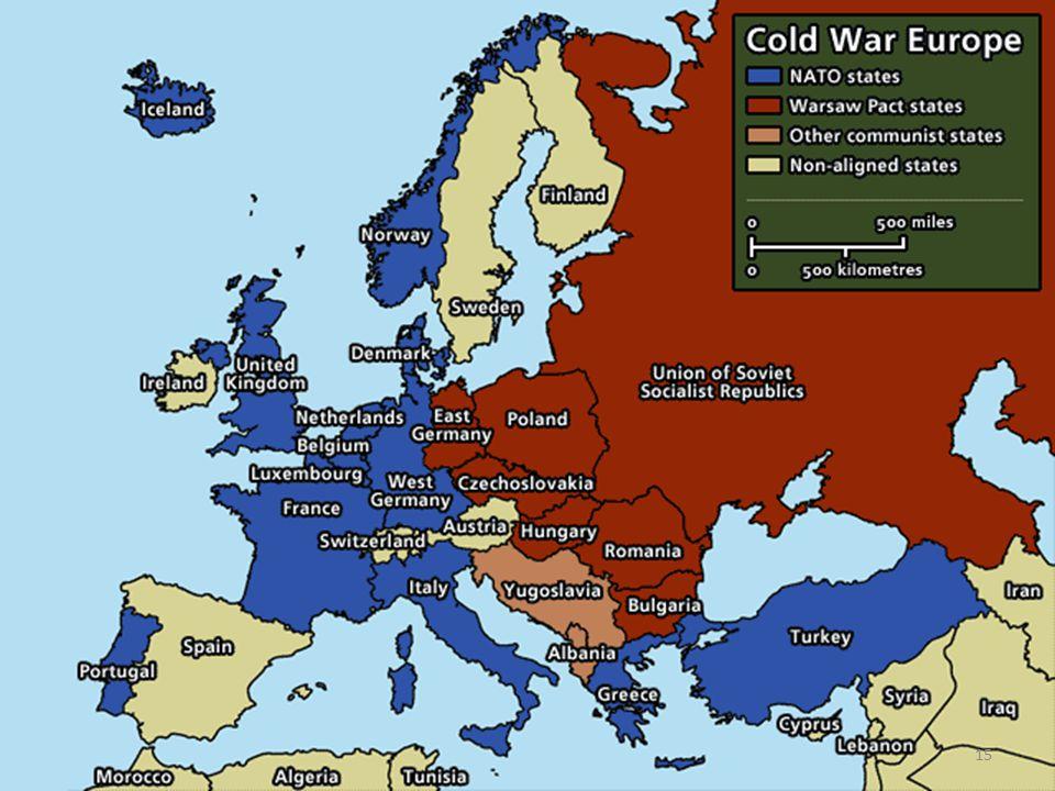 La Guerra Fredda in Europa Nascono le alleanze economiche: Piano Marshall e COMECON. Sfida di modelli, la Guerra Fredda entra nelle società e nelle ca