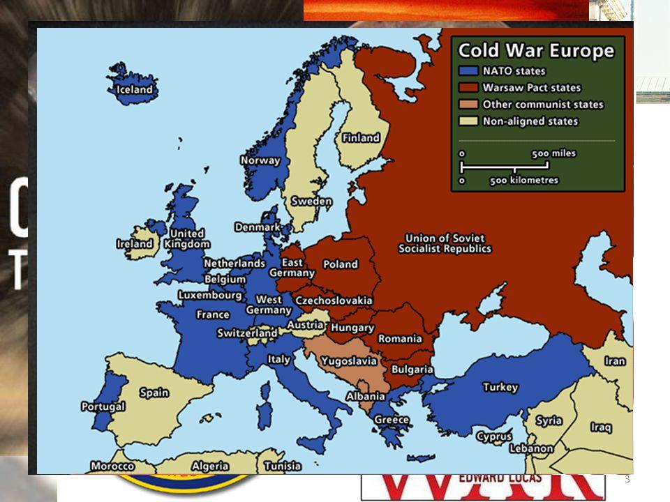 La Guerra Fredda in Europa In questi anni nasce la definizione di Guerra Fredda con una connotazione negativa anche nei confronti degli Stati Uniti: – George Orwell: una guerra che non è guerra, ma non sarà mai neanche pace – Walter Lippman: rinuncia volontaria alla diplomazia – Raymond Aron: pace impossibile – guerra improbabile 14
