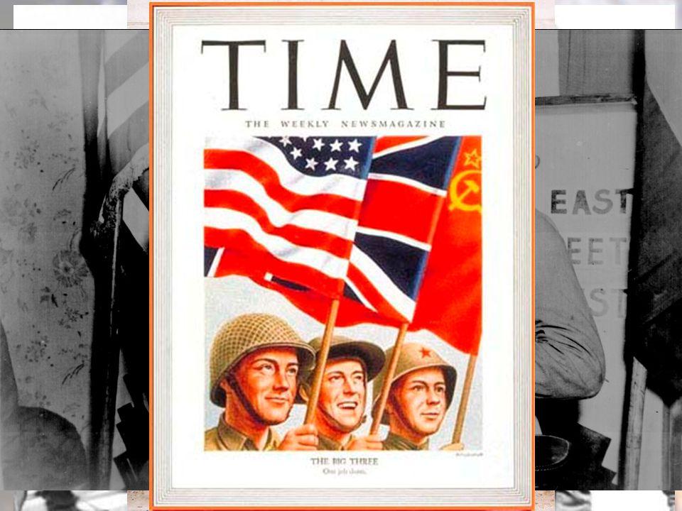La stagione dei vertici tripartiti Nel frattempo, la guerra continua e il miracolo sembra possibile… Il 25 aprile truppe americane e sovietiche si incontrano a Torgau, Germania 8
