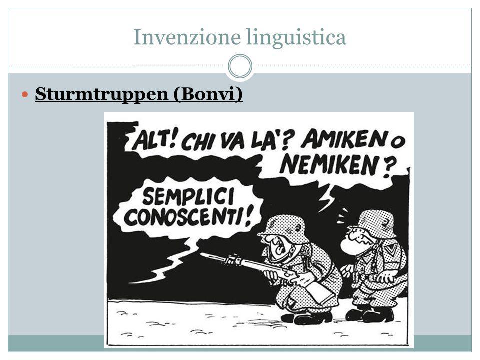 Invenzione linguistica Sturmtruppen (Bonvi)