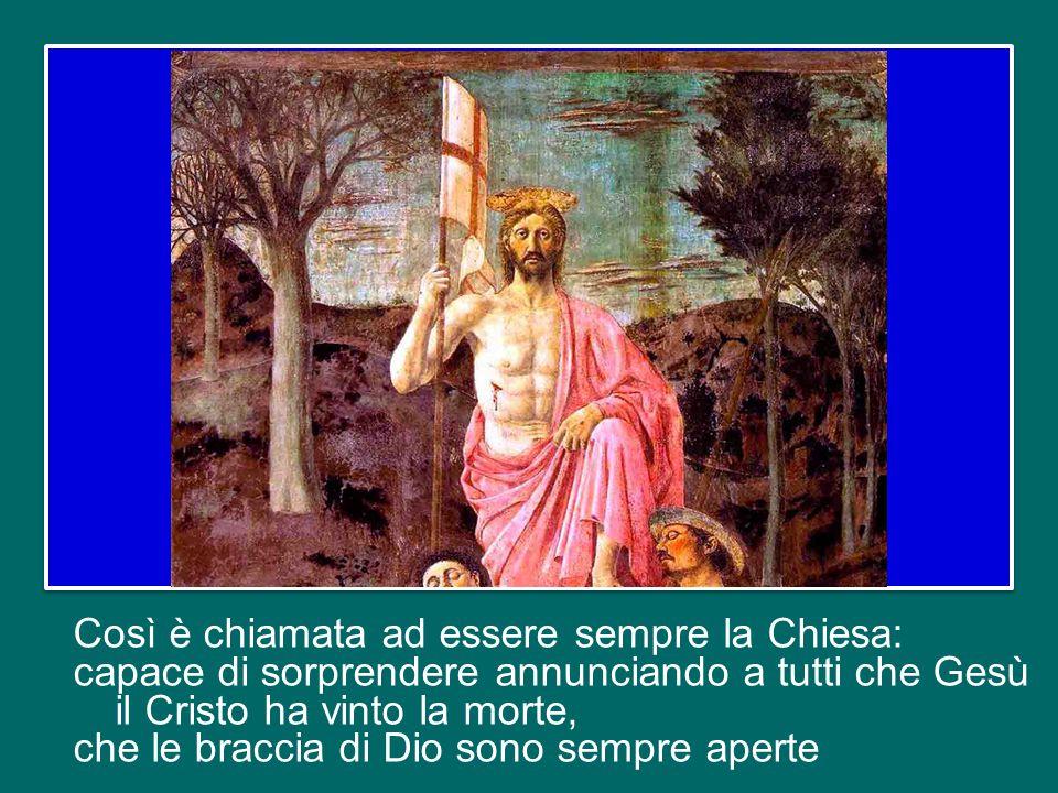 Un annuncio nuovo: Cristo è vivo, è risorto; un linguaggio nuovo: il linguaggio dell'amore. I discepoli sono rivestiti di potenza dall'alto e parlano