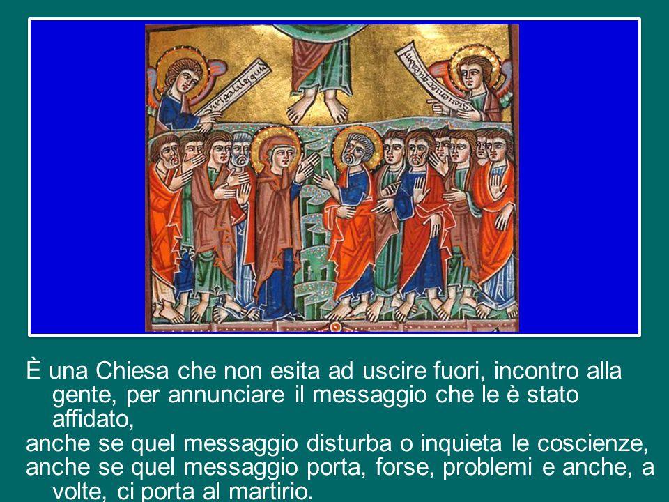 Invece il Signore risorto li spinge nel mondo: «Come il Padre ha mandato me, anche io mando voi» (Gv 20,21). La Chiesa di Pentecoste è una Chiesa che