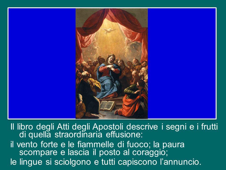 La festa di Pentecoste commemora l'effusione dello Spirito Santo sugli Apostoli riuniti nel Cenacolo. Come la Pasqua, è un evento accaduto durante la