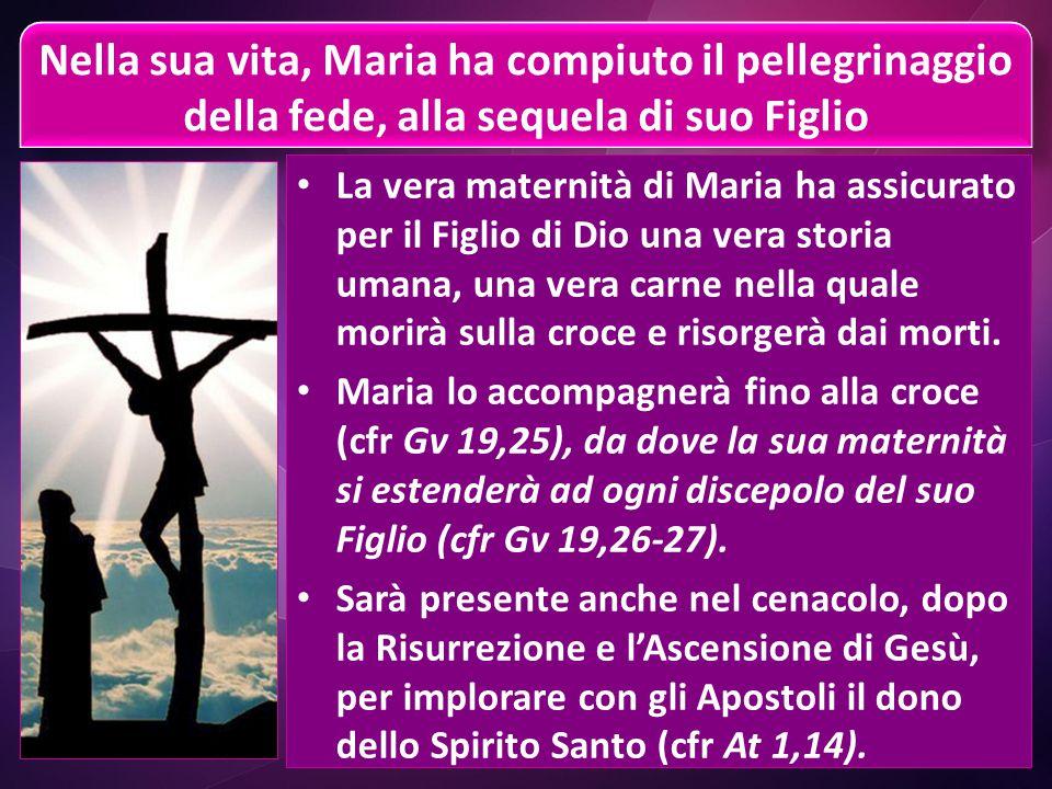 Beata colei che ha creduto (Lc 1,45) Nella pienezza dei tempi, la Parola di Dio si è rivolta a Maria, ed ella l'ha accolta con tutto il suo essere, ne