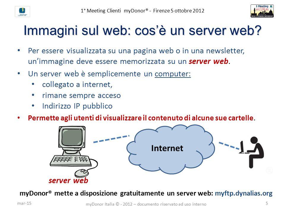 1° Meeting Clienti myDonor® - Firenze 5 ottobre 2012 Immagini sul web: cos'è un server web.