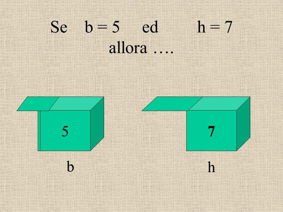 Se b = 5 ed h = 7 allora …. 57 b h