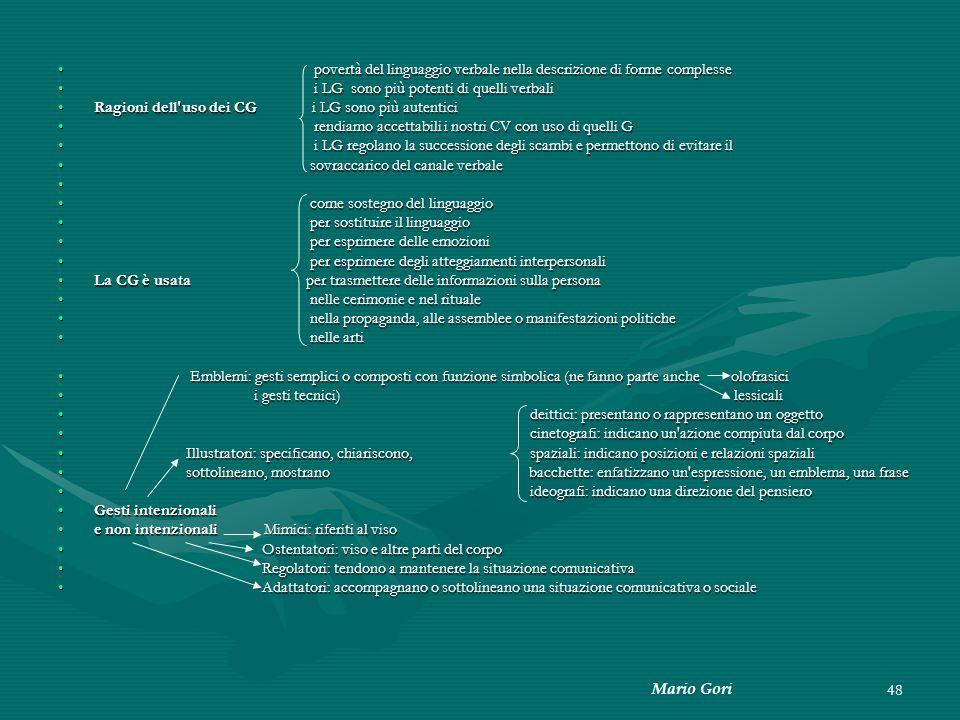 Mario Gori 48 povertà del linguaggio verbale nella descrizione di forme complesse povertà del linguaggio verbale nella descrizione di forme complesse