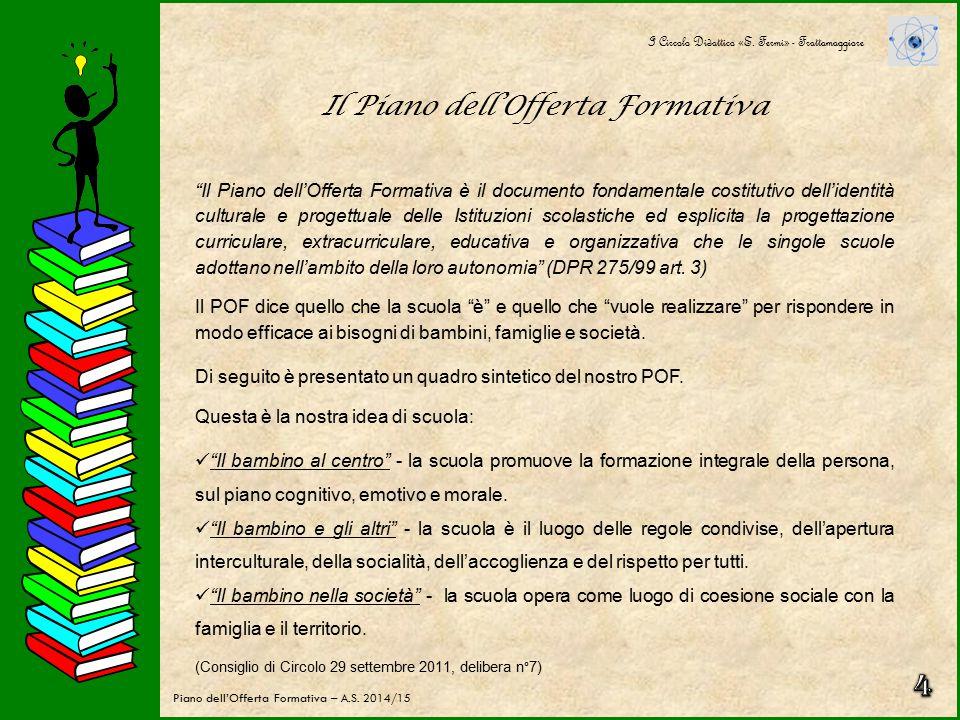 La scuola primaria La scuola primaria è costituita da 29 classi, di cui 11 nel plesso di via Rossini (classi prime e seconde) e 18 nel plesso di via Vergara (classi terze, quarte e quinte).