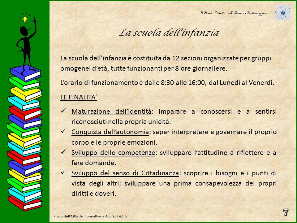 La scuola primaria PROGETTUALITA' I Circolo Didattico «E.