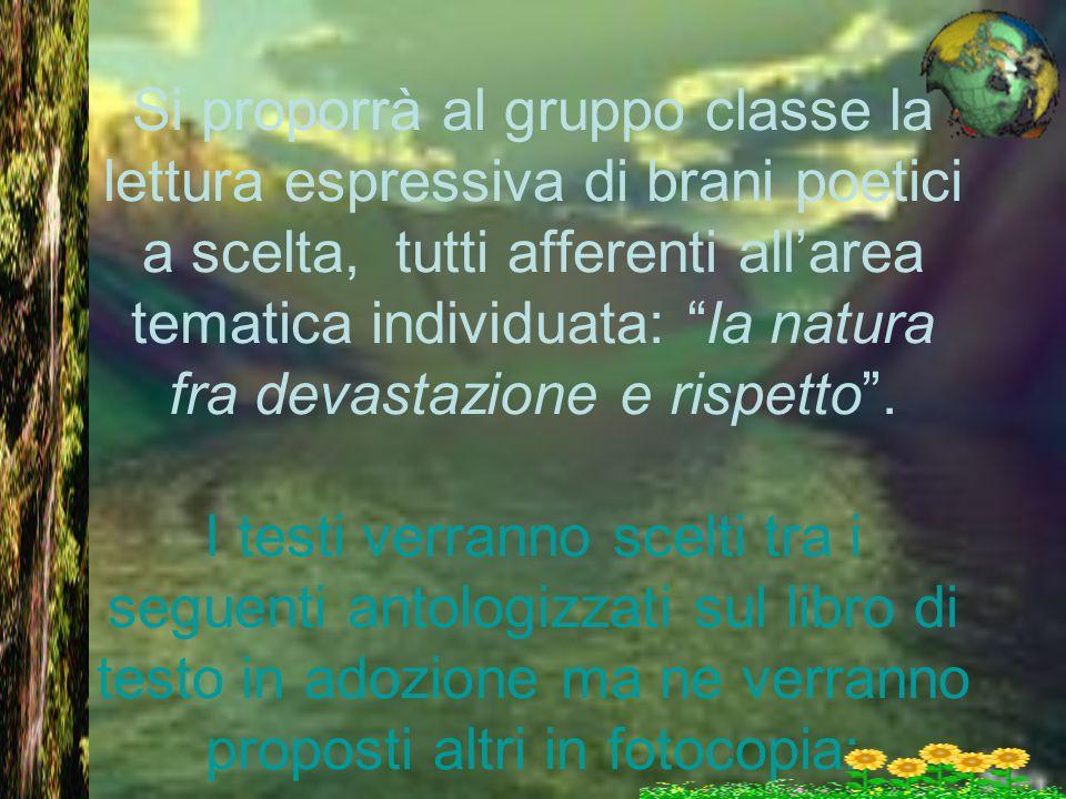 Brani da analizzare Mimnermo, Come le foglie S.Francesco, Il Cantico delle creature G.