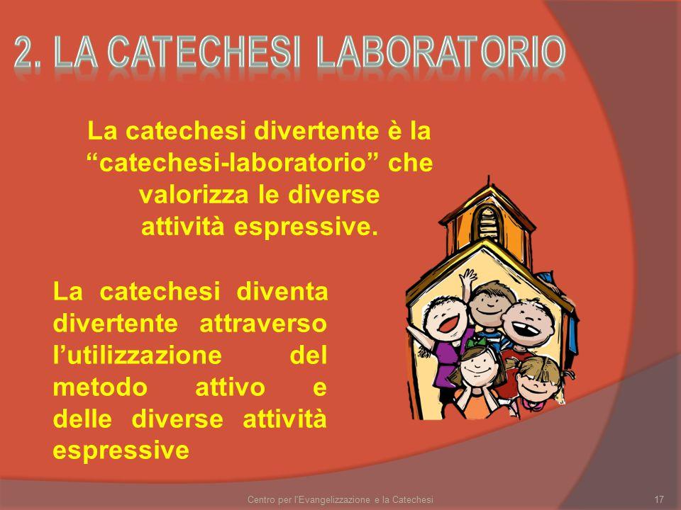 Centro per l Evangelizzazione e la Catechesi17 La catechesi divertente è la catechesi-laboratorio che valorizza le diverse attività espressive.