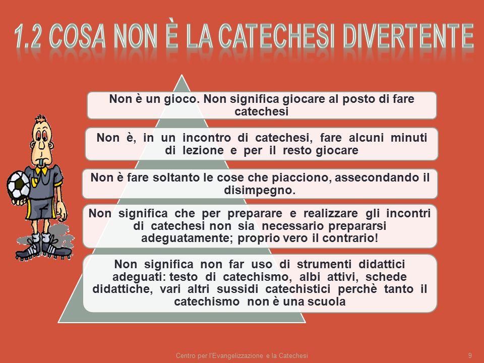 Centro per l Evangelizzazione e la Catechesi9 Non è un gioco.