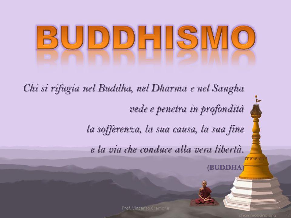 Chi si rifugia nel Buddha, nel Dharma e nel Sangha vede e penetra in profondità la sofferenza, la sua causa, la sua fine e la via che conduce alla ver