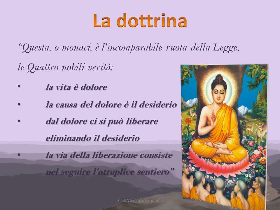 """""""Questa, o monaci, è l'incomparabile ruota della Legge, le Quattro nobili verità: la vita è dolore la causa del dolore è il desiderio la causa del dol"""
