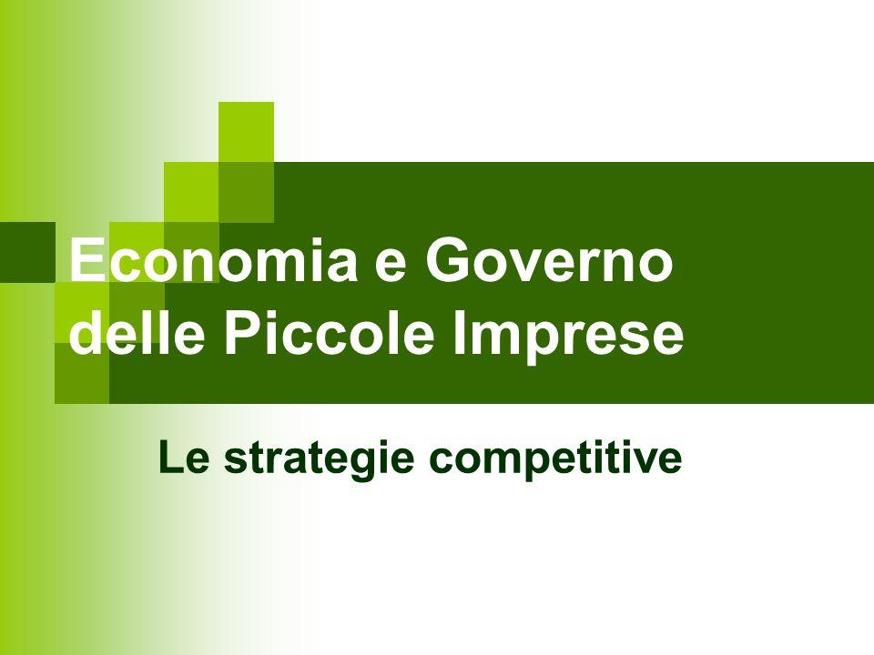Economia e Governo delle Piccole Imprese Le strategie competitive