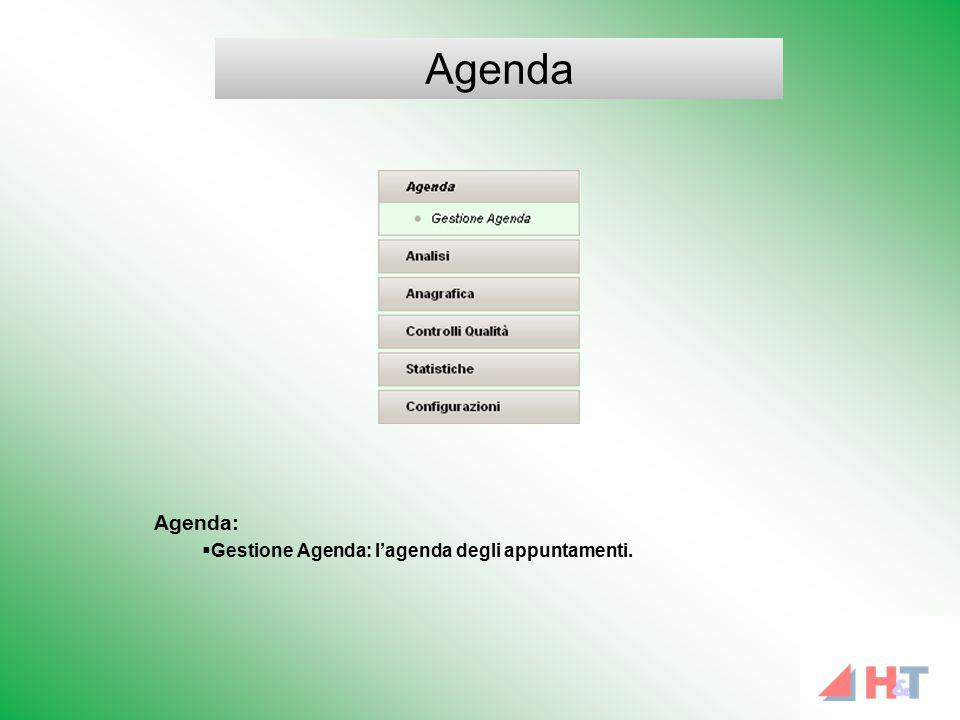 Agenda:  Gestione Agenda: l'agenda degli appuntamenti. Agenda