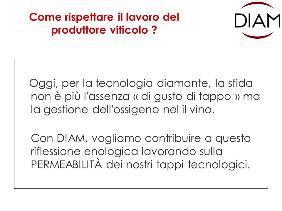 Valori di permeabilità dei tappi DIAM Come rispettare il lavoro del produttore viticolo .