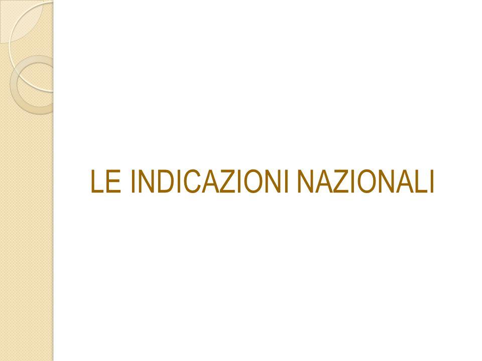 Il documento Le Indicazioni Nazionali per il Curricolo sono un testo di riferimento unico per tutte le scuole autonome che sostituisce quelli che, un tempo, si chiamavano programmi ministeriali .