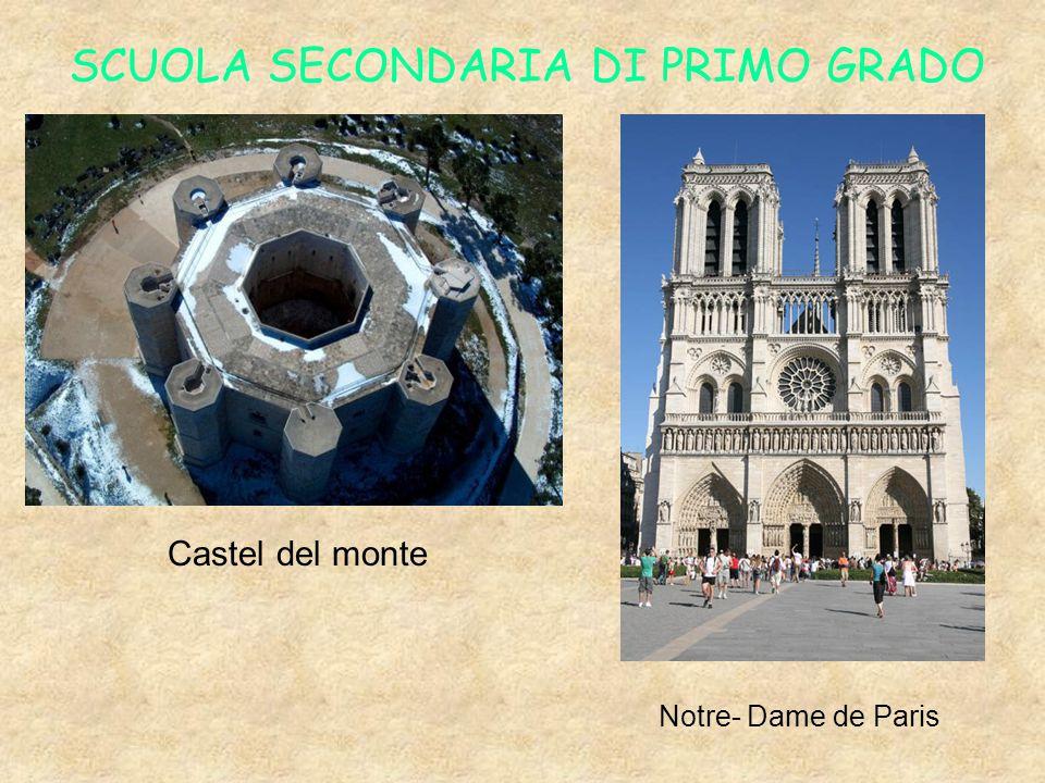 SCUOLA SECONDARIA DI PRIMO GRADO Castel del monte Notre- Dame de Paris