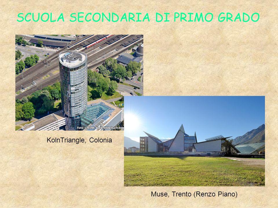 SCUOLA SECONDARIA DI PRIMO GRADO KolnTriangle, Colonia Muse, Trento (Renzo Piano)