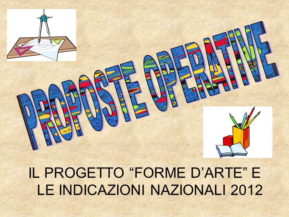 IL PROGETTO FORME D'ARTE E LE INDICAZIONI NAZIONALI 2012