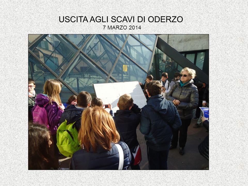 USCITA AGLI SCAVI DI ODERZO 7 MARZO 2014