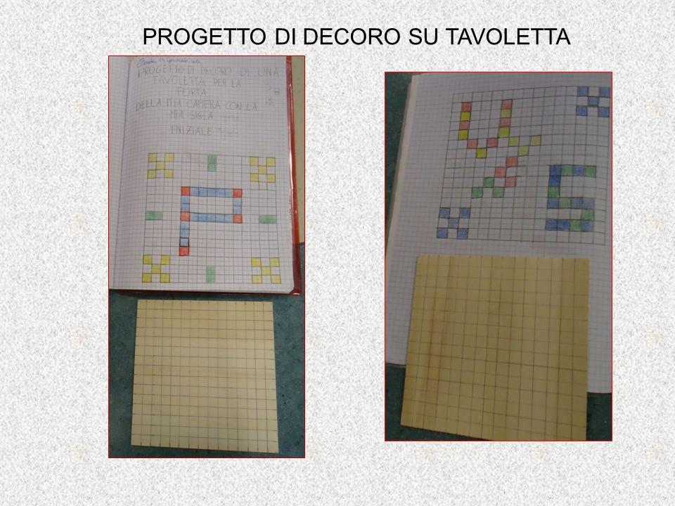 PROGETTO DI DECORO SU TAVOLETTA