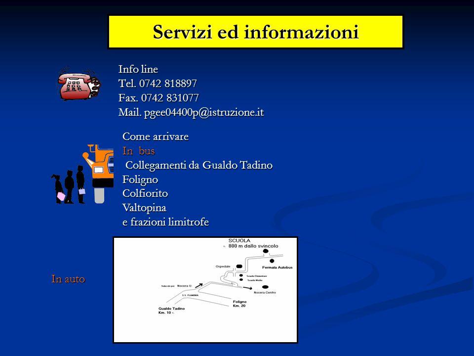 Servizi ed informazioni Info line Tel. 0742 818897 Fax.