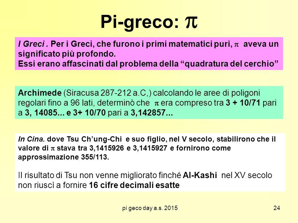 pi geco day a.s.2015 Pi-greco:  I Greci.