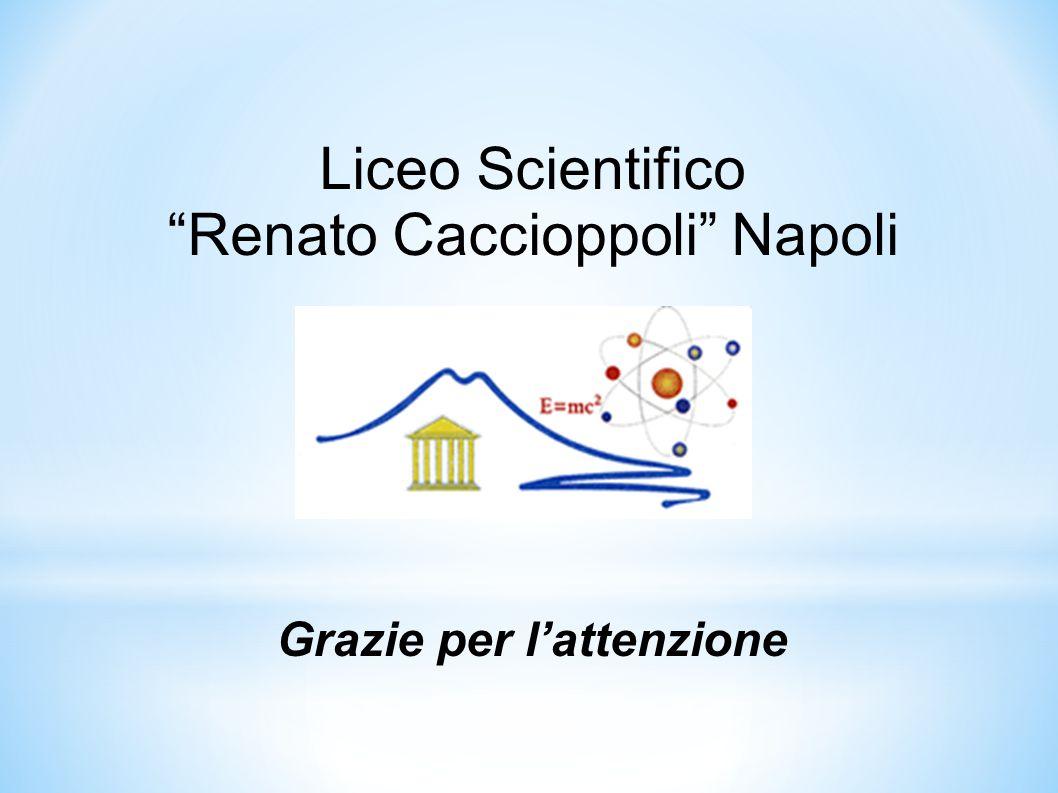 """Liceo Scientifico """"Renato Caccioppoli"""" Napoli Grazie per l'attenzione"""