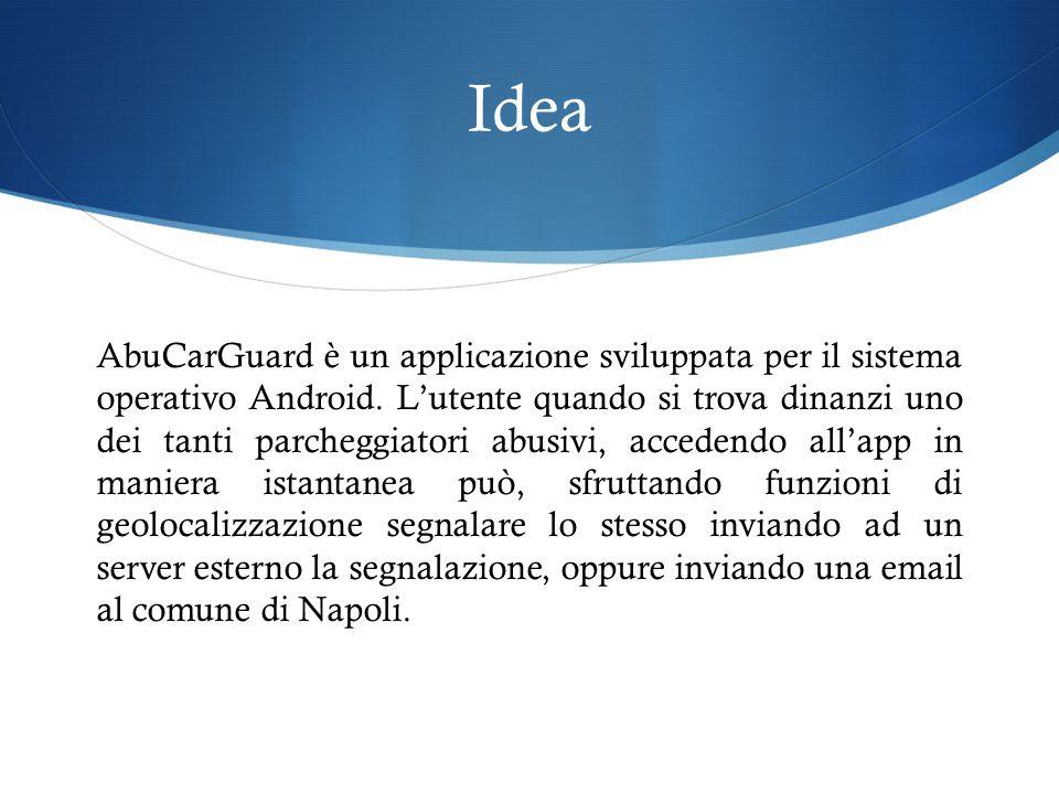 Idea AbuCarGuard è un applicazione sviluppata per il sistema operativo Android.