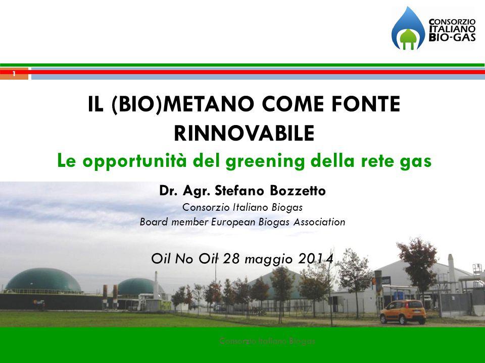 IL (BIO)METANO COME FONTE RINNOVABILE Le opportunità del greening della rete gas Dr.