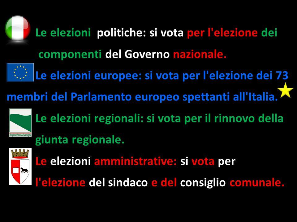Le elezioni politiche: si vota per l elezione dei Le elezioni politiche: si vota per l elezione dei componenti del Governo nazionale.
