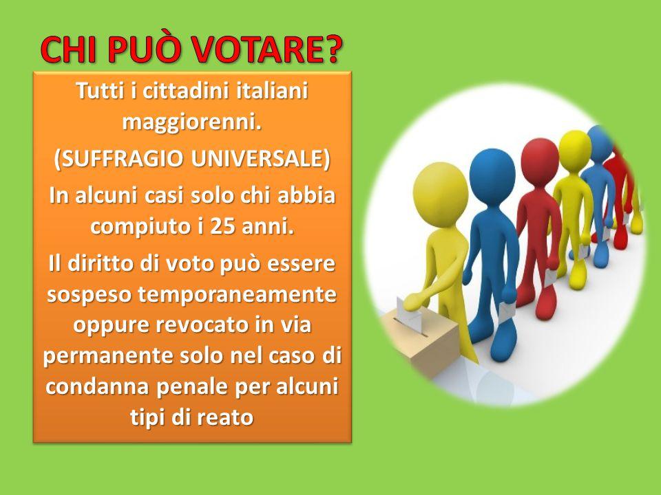 Tutti i cittadini italiani maggiorenni.