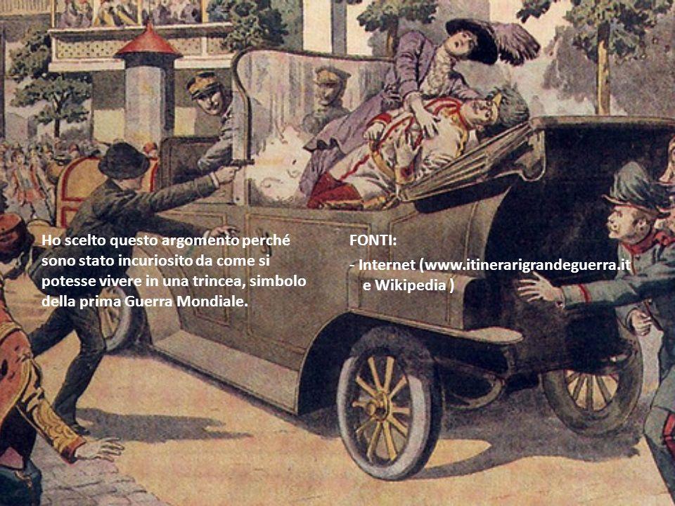 Ho scelto questo argomento perché sono stato incuriosito da come si potesse vivere in una trincea, simbolo della prima Guerra Mondiale. FONTI: - Inter