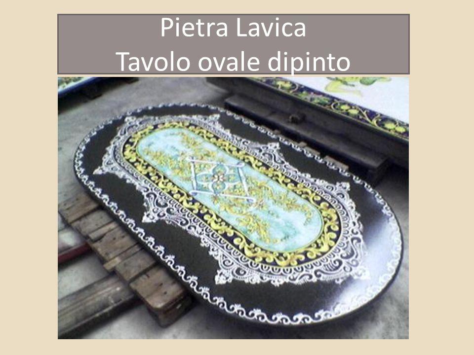 Pietra Lavica Tavolo ovale dipinto