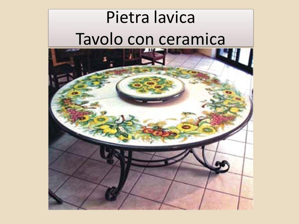 Pietra lavica Tavolo con ceramica