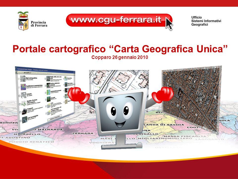 Portale cartografico Carta Geografica Unica Copparo 26 gennaio 2010