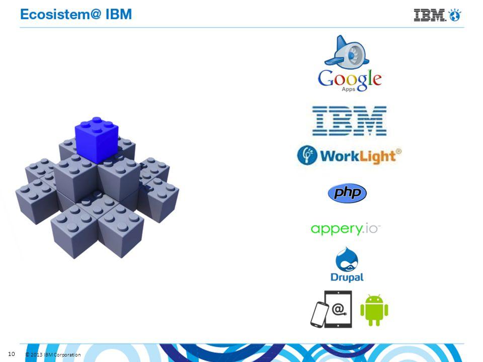 © 2013 IBM Corporation 10