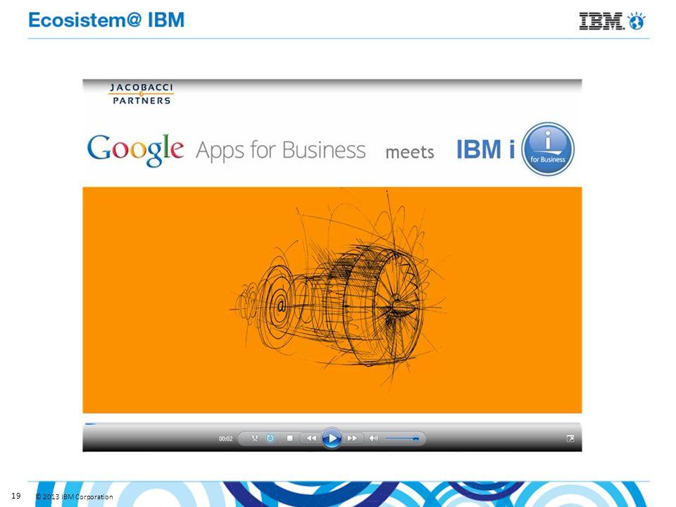 © 2013 IBM Corporation 19